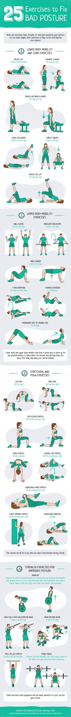 25 Exercises to Help Improve Your Posture