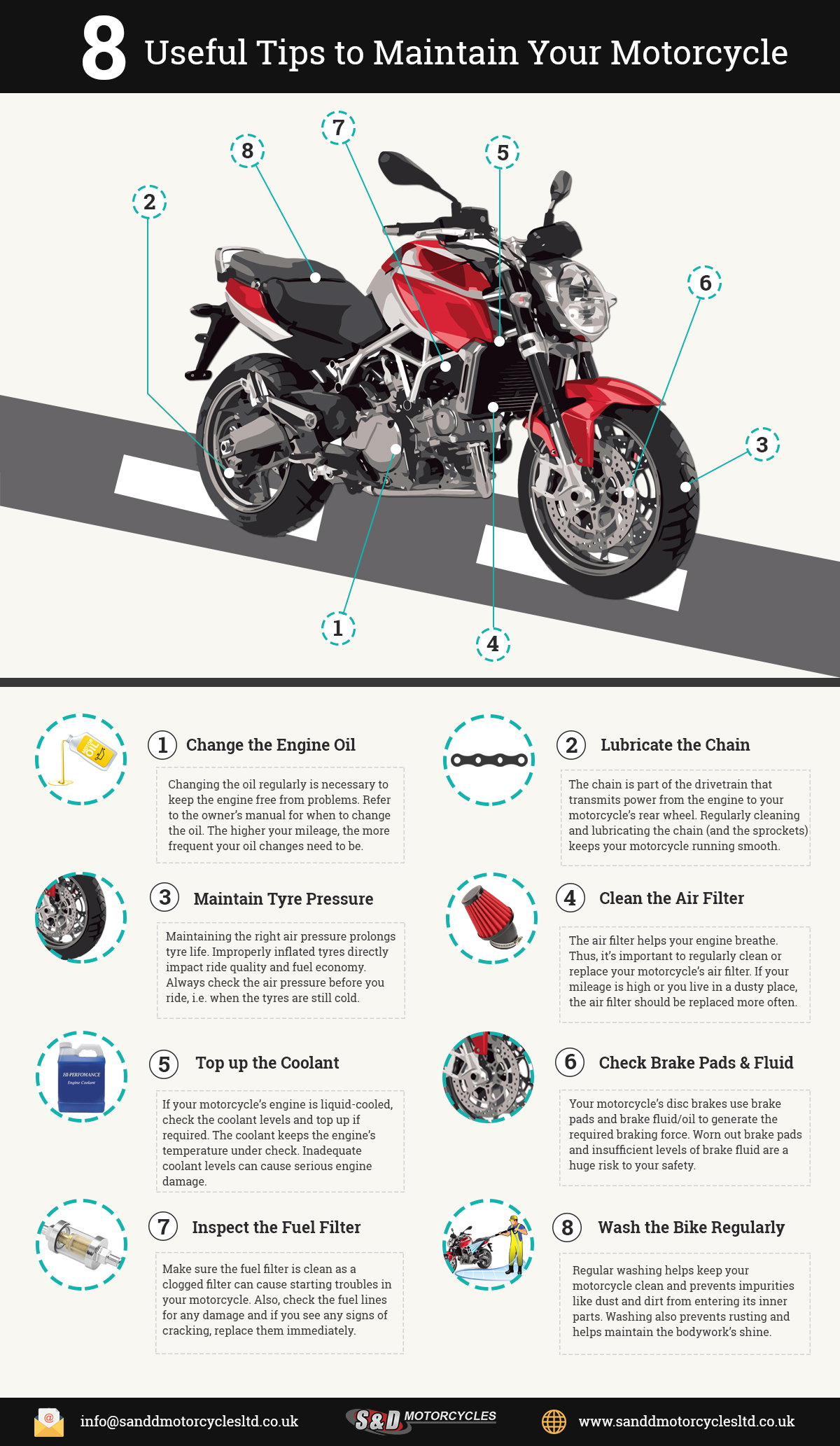 8 useful tips to maintain your motorcycle